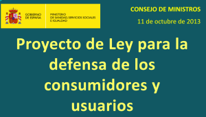 Proyecto de Ley para la defensa de los consumidores y usuarios Contact Center SAC AERRC ACE
