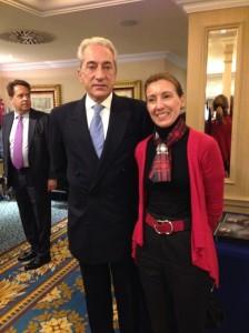 Raquel Serradilla con Embajador de Portugal