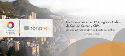KRONOTEK PRESENTARÁ IMPORTANTES NOVEDADES PARA EMPRESAS EN EL 12º CONGRESO ANDINO