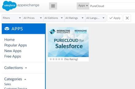 Interactive Intelligence anuncia la disponibilidad de PureCloud Engage en Salesforce AppExchange, el principal mercado mundial de aplicaciones de empresa