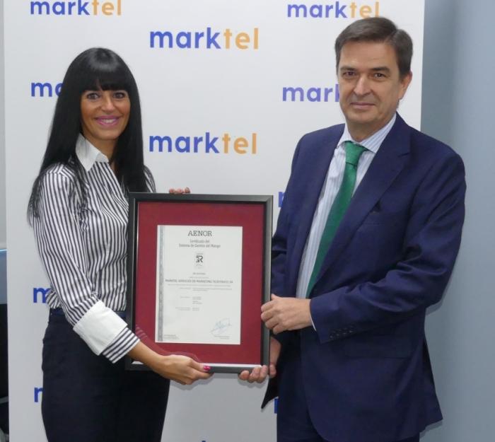 MARKTEL- acto entrega certificado AENOR_baja