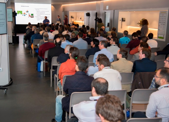 Sala de conferencias en el Wanda Metropolitano